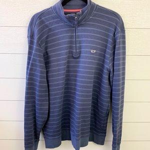 Vineyard Vines Striped 3/4 Zip Up Sweater